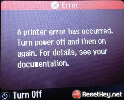 Epson printers error message: A printer error has occured | Epson