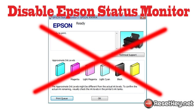 Disable the Epson Status Monitor Utility on Windows