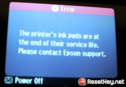 The Epson L556 Printer's Ink Pads at the end of Their service life