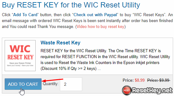 Video how to buy WIC Reset Key by Visa, MasterCard, Paypal