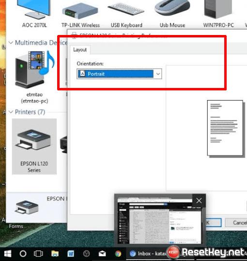 no maintenance tab in Pringing preferences settings