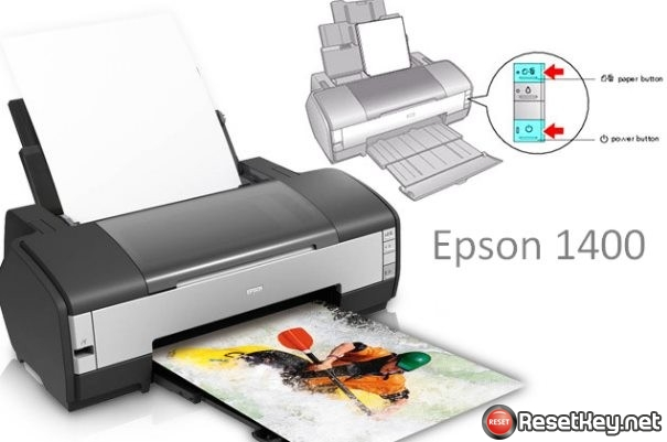 Reset Epson L1400 ink and paper lights flashing 1