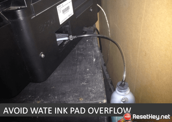 avoid Epson R245 printer's waste ink tray overflow