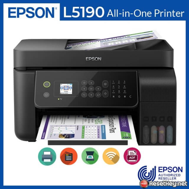 Reset Epson L5190 printer Waste Ink Pads Counter