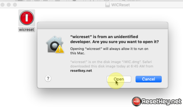Install WIC Reset on MAC OS X - Step 6