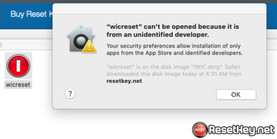 Install WIC Reset on MAC OS X - Step 1