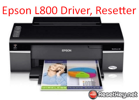 Download Epson L800 printer driver and resetter
