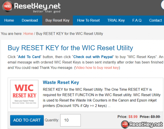 How to save money when buying reset keys?