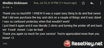 A great review from Shelbie Dickinson – Review Reset Key