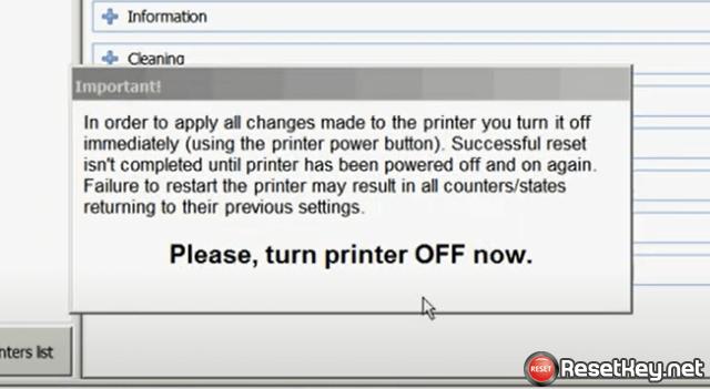 turn off the printer