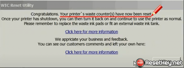 success reset epson printer