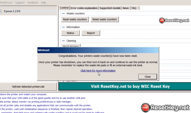 Wic reset for epson l210 free download